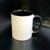 Кружка с фотографией черная ручка и внутри