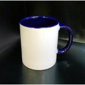 Кружка с фотографией синяя ручка и внутри