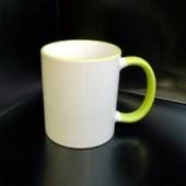 Кружка с фотографией светло-зеленый ободок и внутри