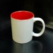 Кружка с фотографией красная внутри