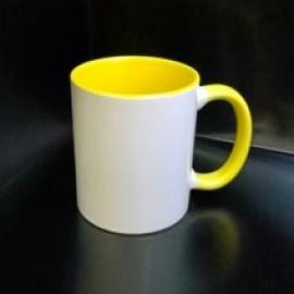Кружка с фотографией желтая ручка и внутри