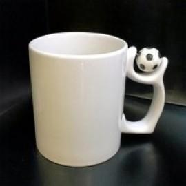 Кружка с фотографией ручка с футбольным мячем