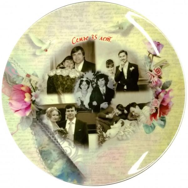 Напечатать фото на тарелке