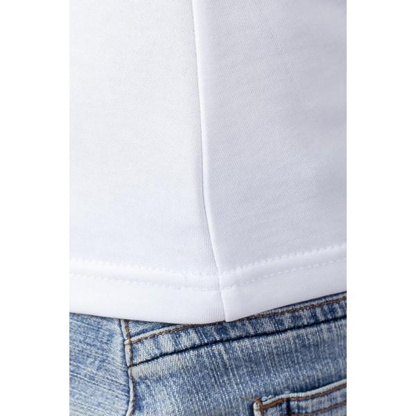 Напечатать принт на футболке женской с круглым О-воротом ХБ-ПЭ